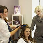 Frisuren und Styling
